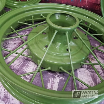 Powder Coated Vintage Model A Wheels
