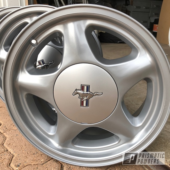 Powder Coating: Wheels,BMW Silver PMB-6525,Automotive,Restoration,Ford Mustang,Ford,Mustang