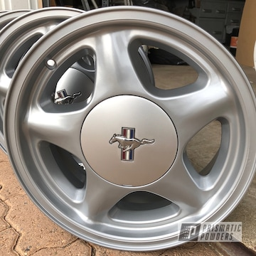 Powder Coated Ford Mustang Wheel Restoration
