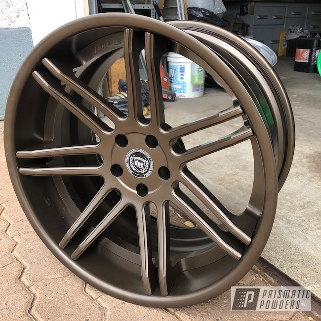 "Powder Coating: Wheels,3 Piece,Automotive,DPE wheels,GOLD RUBBED BRONZE UMB-4469,20"""