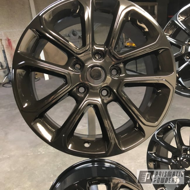 Powder Coating: Wheels,Automotive,GLOSS BLACK USS-2603,Chevy
