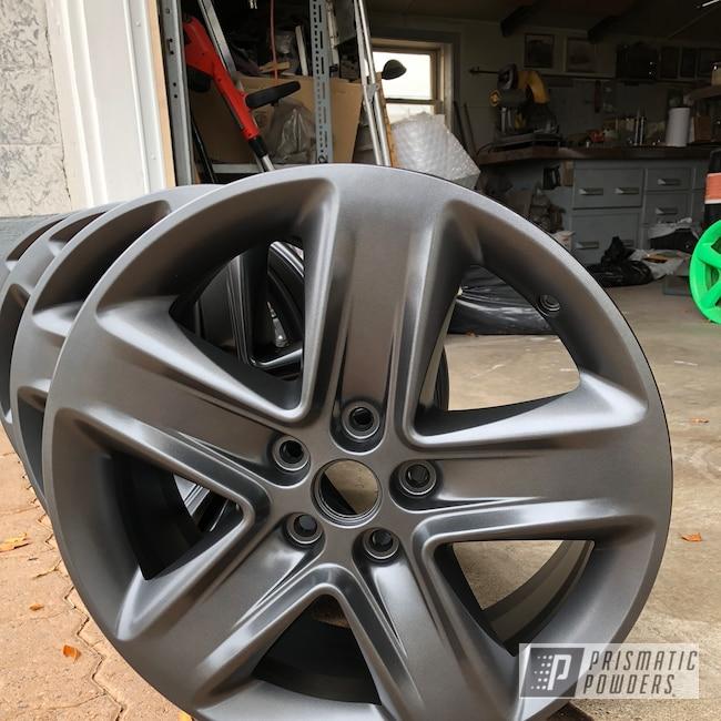 "Powder Coating: Wheels,Automotive,18"",18"" Wheel,ULTRA BLACK CHROME USS-5204"