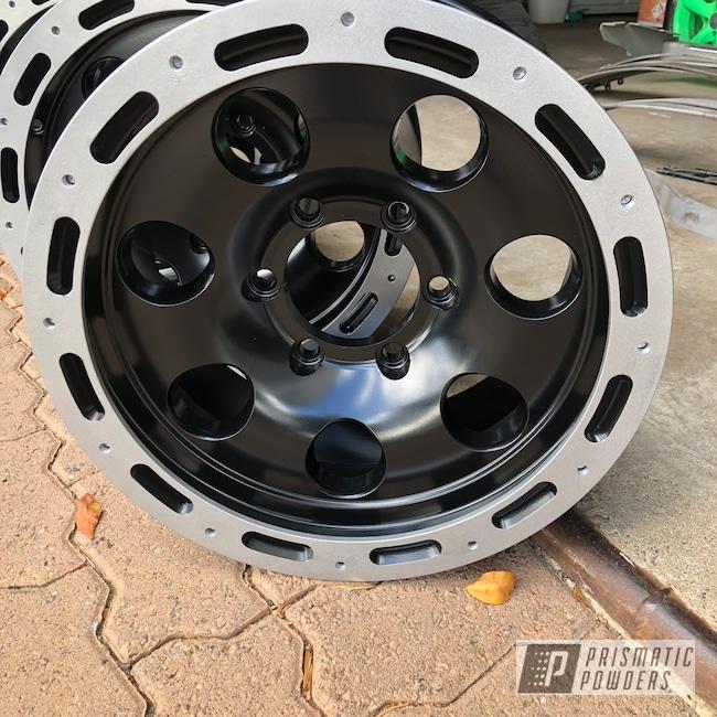 """Powder Coating: Wheels,BMW Silver PMB-6525,Matte Black PSS-4455,Automotive,16"""" Wheels,Two Tone"""