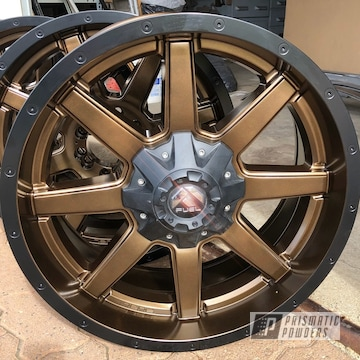 Powder Coated Two Toned 20 Inch Fuel Wheels