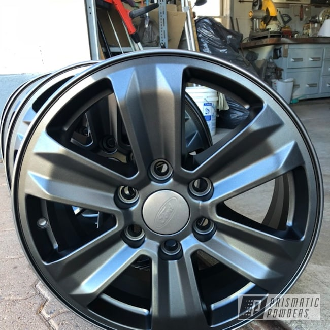 "Powder Coating: Wheels,Matte Black PSS-4455,Automotive,18"",18"" Wheel"