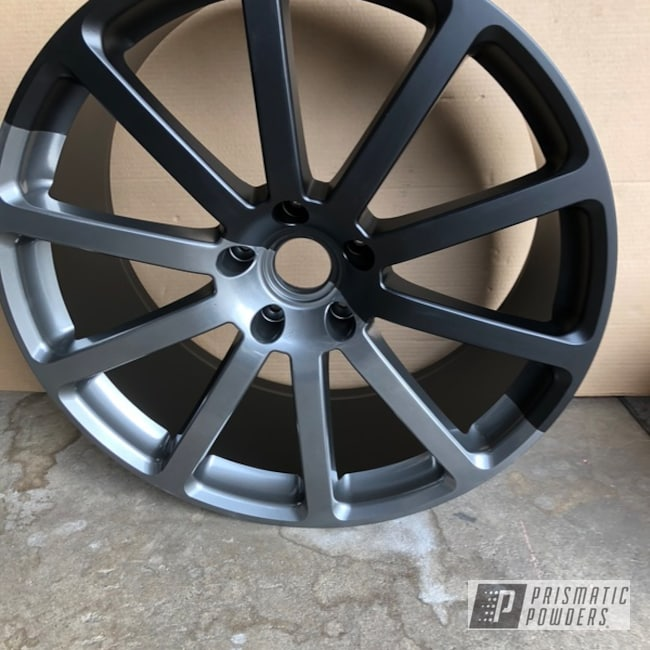 "Powder Coating: Wheels,BLACK JACK USS-1522,18"" Wheel,Two Tone,ULTRA BLACK CHROME USS-5204,Display Rim"