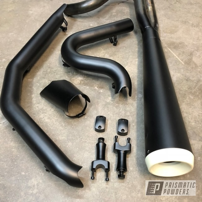 Powder Coated Harley Exhaust System