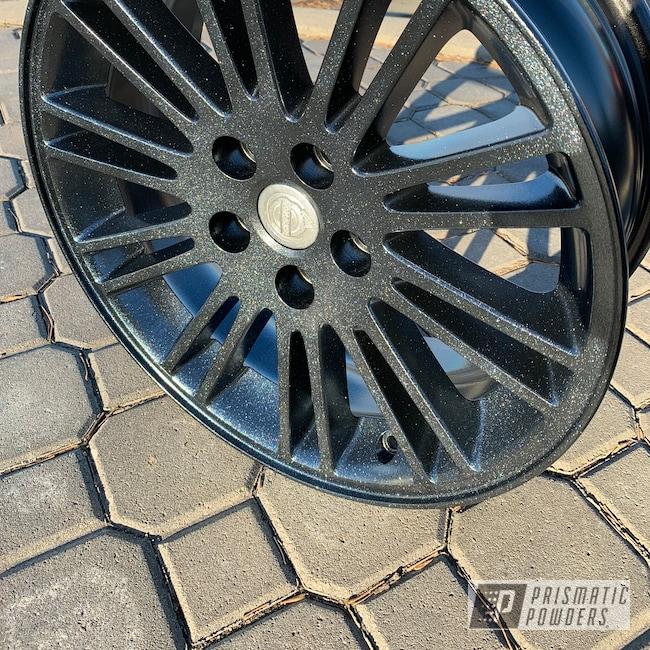 "Powder Coating: Wheels,Matte Black PSS-4455,Automotive,Silver Sparkle PPB-4727,18"",18"" Wheel,Chrysler"