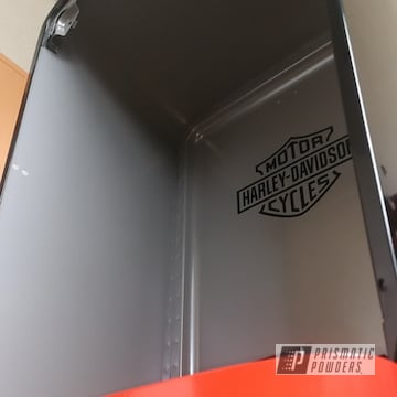 Powder Coated 1957 Harley Davidson Themed Fridge