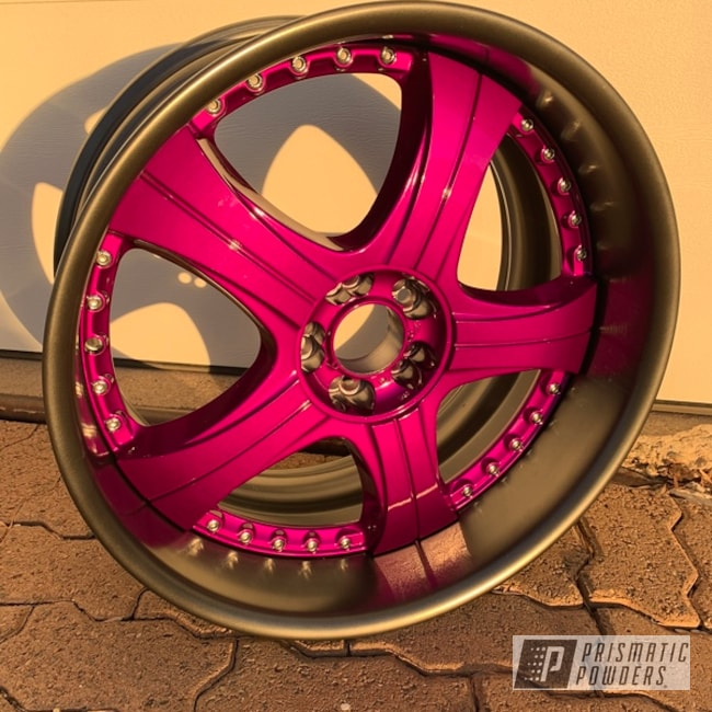 "Powder Coating: Wheels,Automotive,Evo Grey PMB-5969,Clear Vision PPS-2974,20"" Wheels,20"",Two Tone,Illusion Violet PSS-4514,3 Piece Wheels"