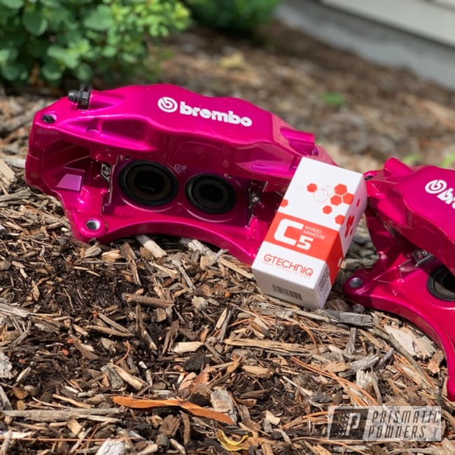 Powder Coating: STI,RACING RASPBERRY UPB-6610,Brembo Calipers,Brake Calipers,Subaru
