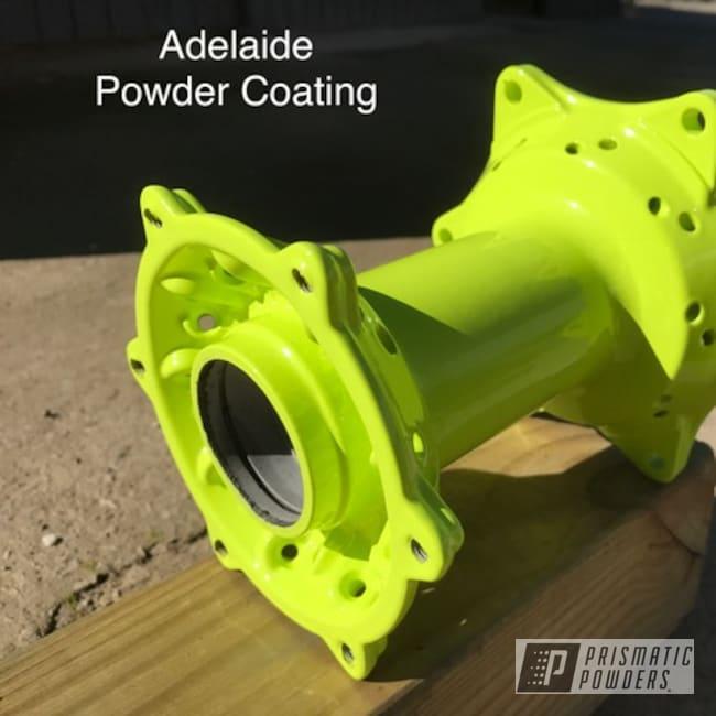 Powder Coating: Motor Bike Wheels,Chartreuse Sherbert PSS-7068,Motor Bike Parts,Powder Coated Wheel Hubs,Motorcycle Wheels,Motorcycles