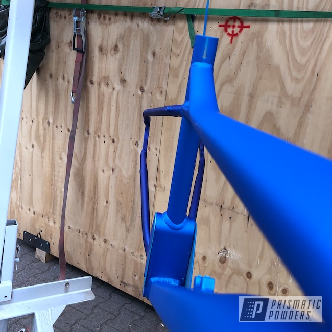 Powder Coating: Bicycles,Mountain Bike,Illusion Lite Blue PMS-4621,Matte Finish,Illusion Royal PMS-6925,Casper Clear PPS-4005,Bicycle,Bicycle Frame