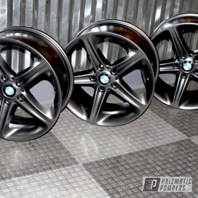 Powder Coating: Wheels,Automotive,Evo Grey PMB-5969,Custom Powder Coated BMW Wheels