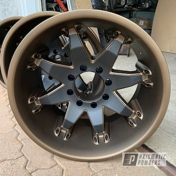 Powder Coated Two Tone 20 Inch Fuel Wheels