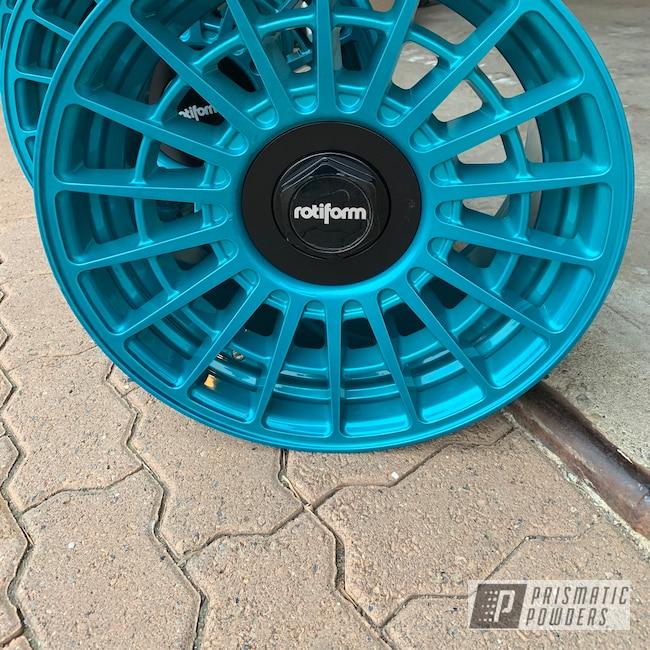 "Powder Coating: Wheels,Automotive,18"",HD TEAL UPB-1848,18"" Wheels,Rotiform,Rotiform Wheels"