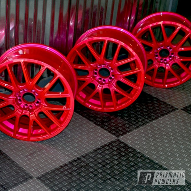 Powder Coating: Wheels,Automotive,Clear Vision PPS-2974,SUPER CHROME USS-4482,chrome,Corkey Pink PPS-5875