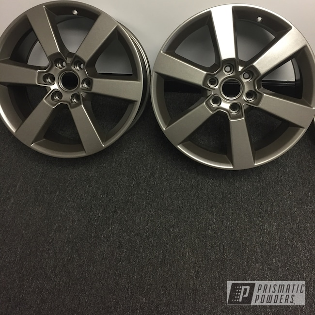 "Powder Coating: Wheels,Automotive,15"" Steel Wheels,Grey Metallic PMB-4999"