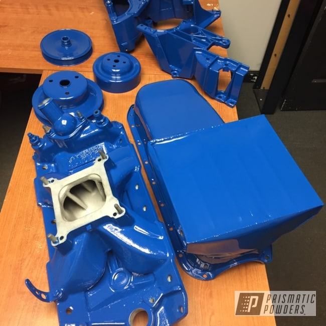 Powder Coating: Automotive,RAL 5005 Signal Blue,Engine Parts