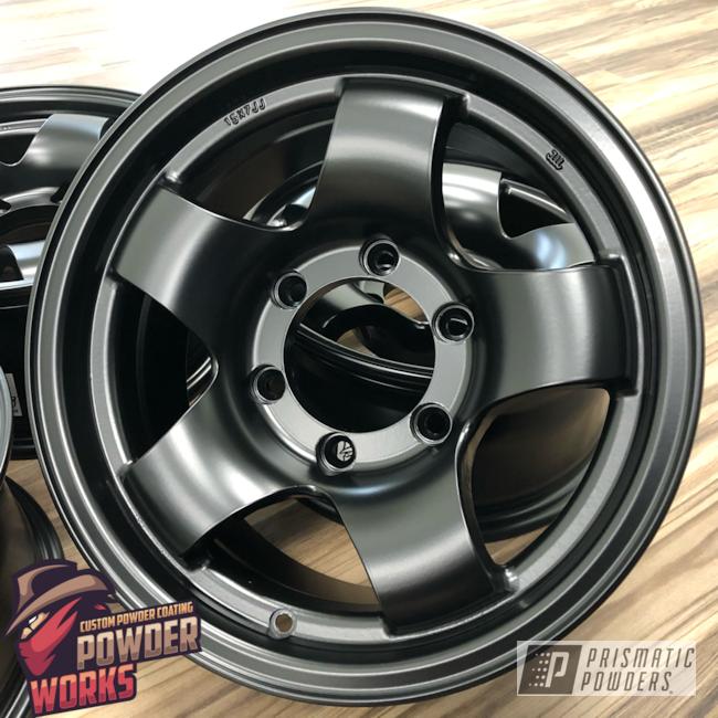 Powder Coating: Wheels,Automotive,Stone Black PSS-1168,Custom Wheels