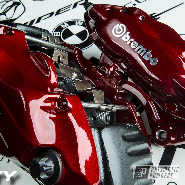 Powder Coating: Clear Vision PPS-2974,Brakes,Brembo,Brake Calipers,Dodge,SRT8,Illusion Cherry PMB-6905,Challenger,driveclarity