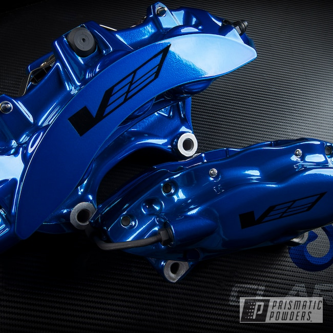 Powder Coating: Brakes,SUPER CHROME USS-4482,Peeka Blue PPS-4351,Brembo,Brake Calipers,CTSV,Cadillac,driveclarity