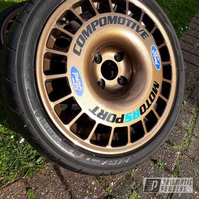 Powder Coating: Wheels,Automotive,Cosworth,TRIPLE BRONZE UMB-4548,Compomotive Wheels