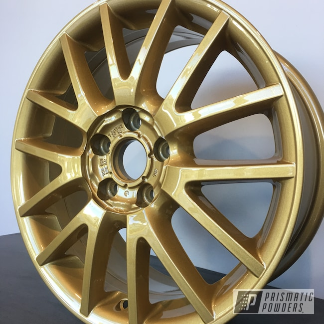 "Powder Coating: Wheels,18"",Automotive,Clear Vision PPS-2974,Custom Wheels,Spanish Gold EMS-0940"