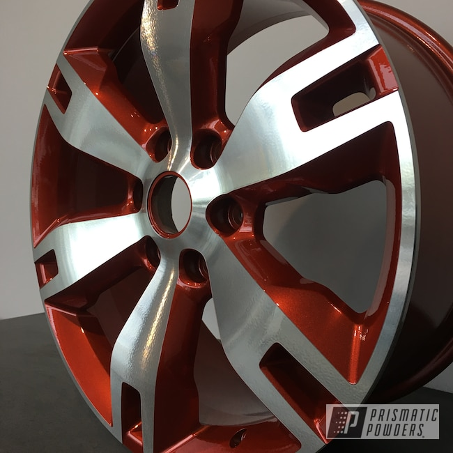 Powder Coating: Wheels,Illusion Orange Cherry PMB-5509,Automotive,Clear Vision PPS-2974,20'',Ford