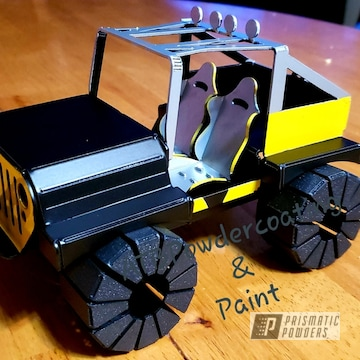 Powder Coated Metal Diecast Jeep Model Car