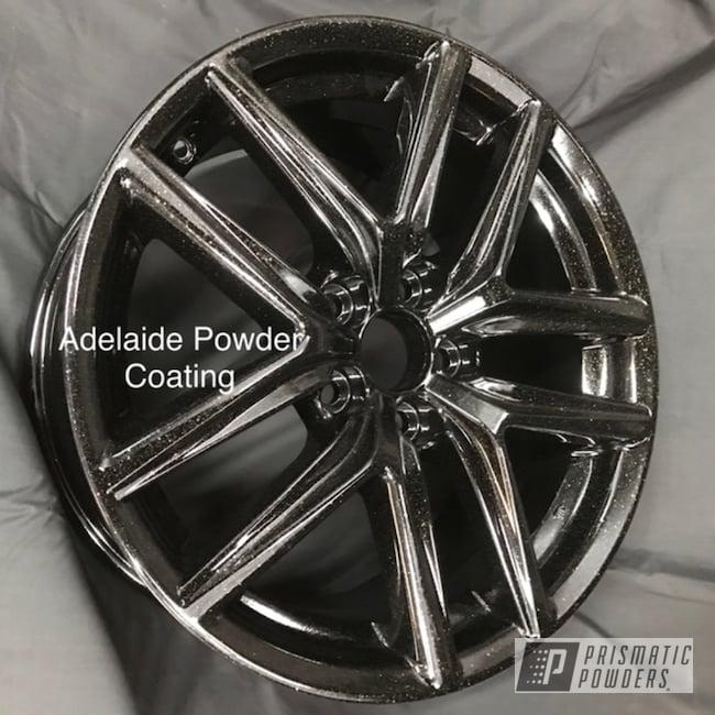 "Powder Coating: Wheels,18"",Jr Rockstar Sparkle PPB-6624,Automotive,Alloy Wheels,Clear Vision PPS-2974,18"" Wheel,Ink Black PSS-0106,18"" Wheels"