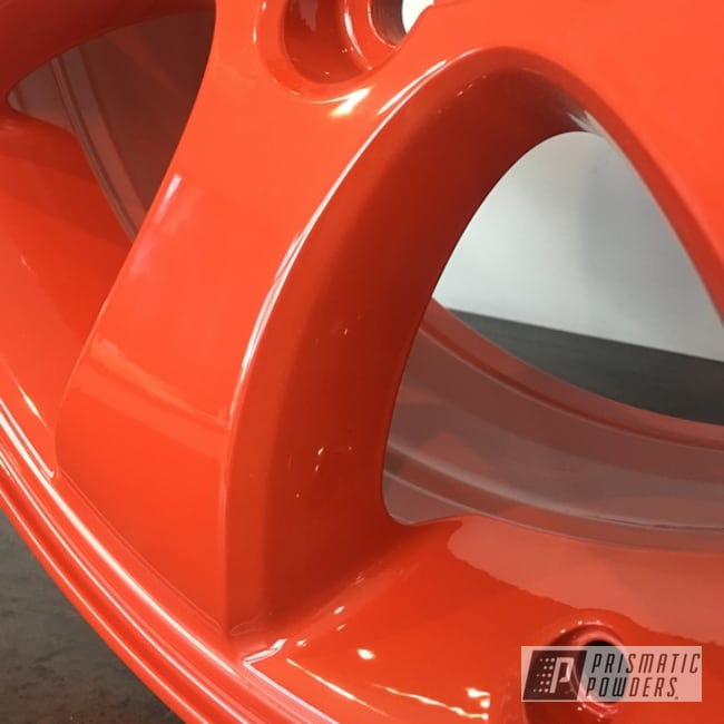 """Powder Coating: Wheels,Automotive,Clear Vision PPS-2974,17"""" Wheels,Toyota,Very Red PSS-4971"""