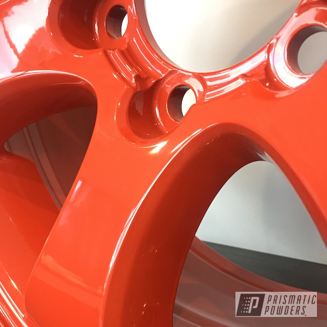 "Powder Coating: Wheels,Automotive,Clear Vision PPS-2974,17"" Wheels,Toyota,Very Red PSS-4971"