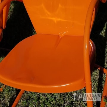 Powder Coated Vintage Metal Patio Chair