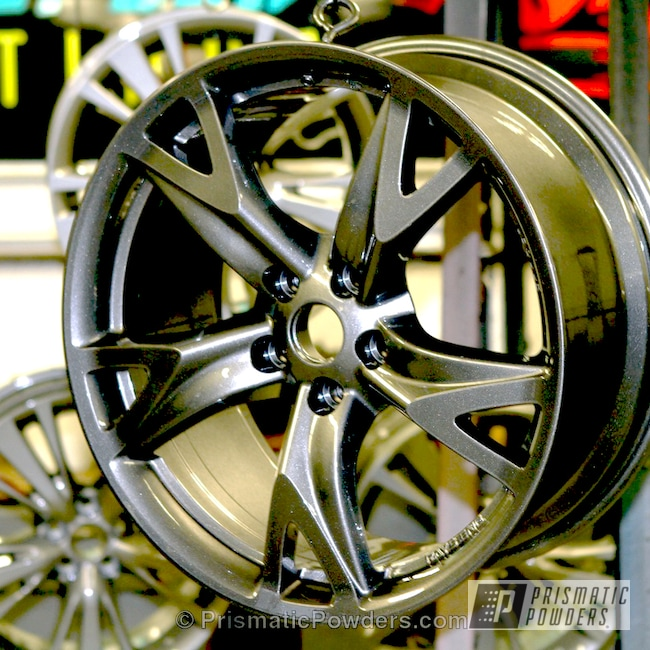 Powder Coating: Wheels,Automotive,Clear Vision PPS-2974,Kingsport Grey PMB-5027
