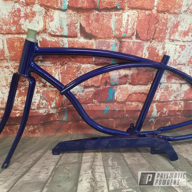 Powder Coating: Bicycles,Clear Vision PPS-2974,Vintage Schwinn,Illusion Royal PMS-6925,Bicycle Frame