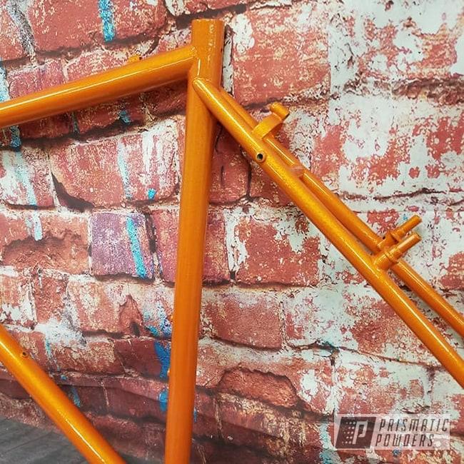 Powder Coating: Bicycles,Clear Vision PPS-2974,Bike Frame,Illusion Orange PMS-4620