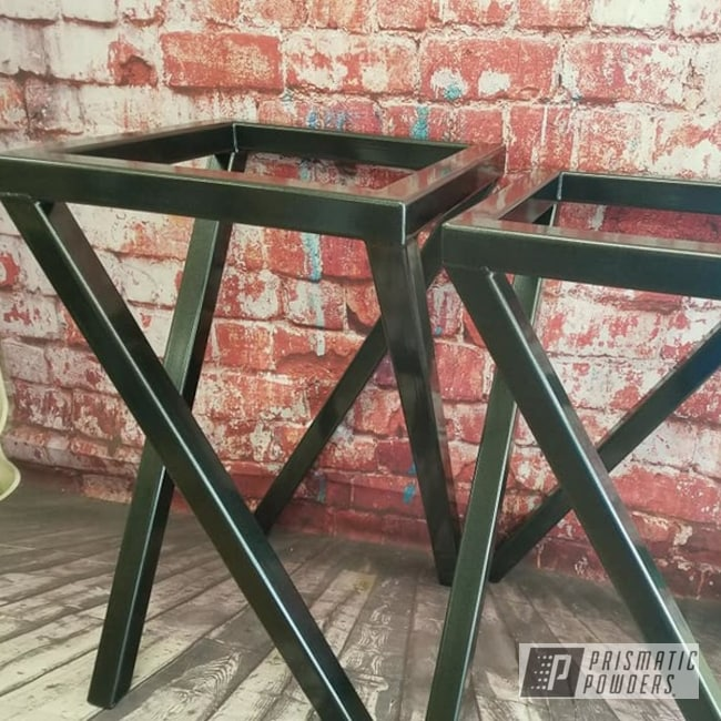 Powder Coating: Custom Furniture,Tables,Cadillac Grey PMB-6377,Furniture