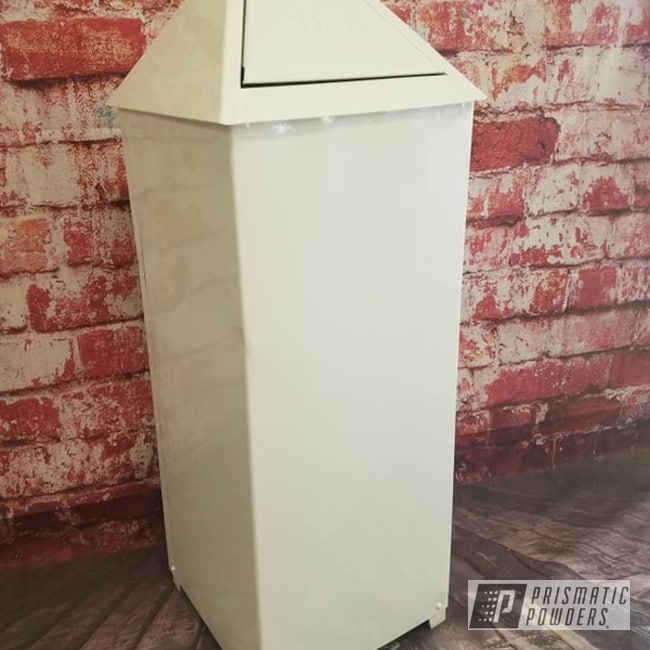 Powder Coating: Vintage,Gloss White PSS-5690,Trash Can,Miscellaneous