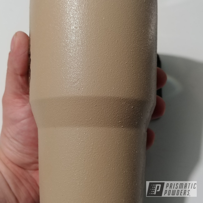Powder Coating: Tumbler,Tan Texture PTB-6948,GLOSS BLACK USS-2603,Textured Finish,30oz Tumbler,Custom Tumbler Cup,Textured