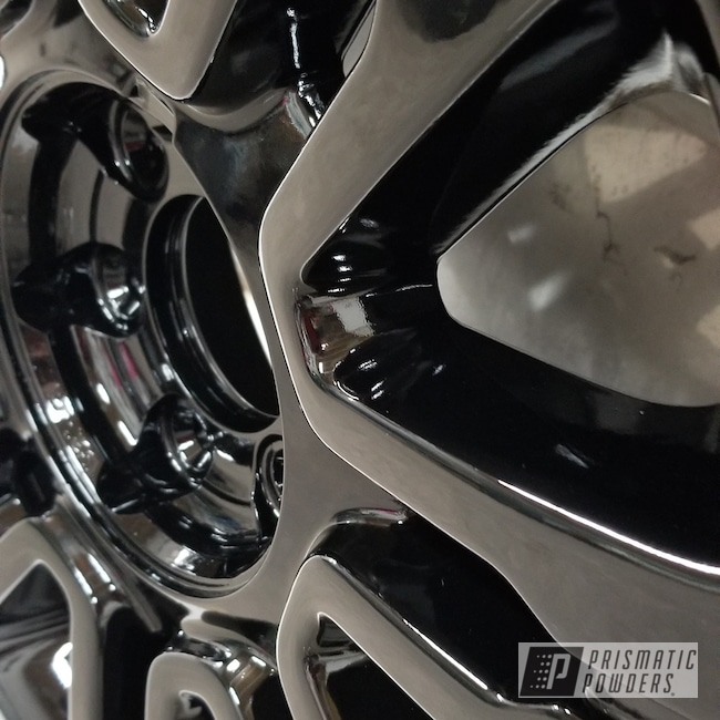 Powder Coating: Wheels,Automotive,Ink Black PSS-0106,Ford Truck Rims,Ford