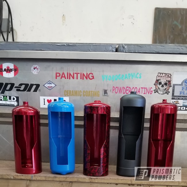 Powder Coating: Clear Vision PPS-2974,SUPER CHROME USS-4482,RED GOLD DUST UPB-5812,Fire Extinguishers,Playboy Blue PSS-1715,Art,Black Sparkle PCB-6967,Miscellaneous
