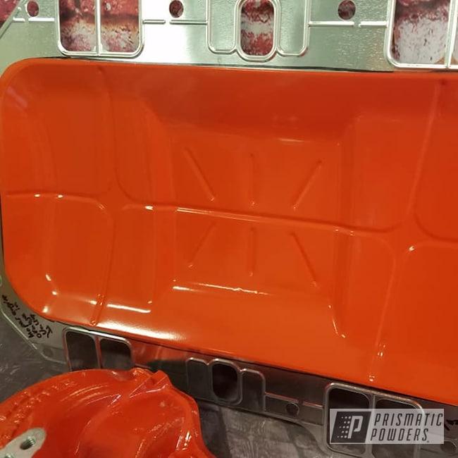 Powder Coating: Intake Manifold,Automotive,Engine Parts,Automotive Parts,Hemi Orange PSB-5898
