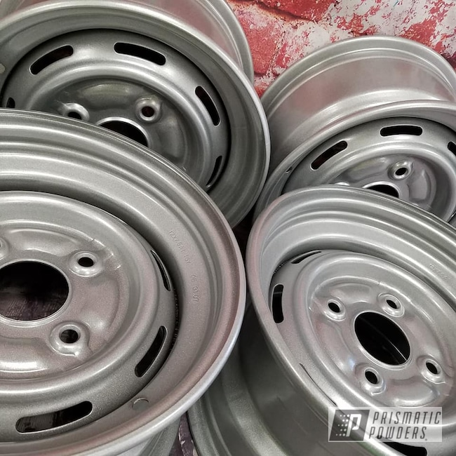 Powder Coating: Wheels,Heavy Silver PMS-0517,ATV,ATV Wheels,ATV Rim,Steel Rims