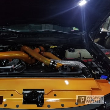 Powder Coated Orange Ford F250 Turbo Pipes