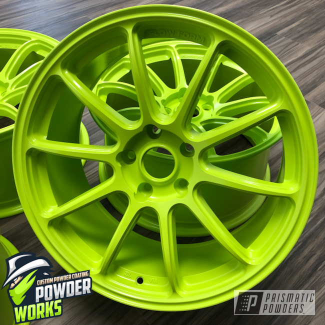 Powder Coating: Wheels,Automotive,Chartreuse Sherbert PSS-7068