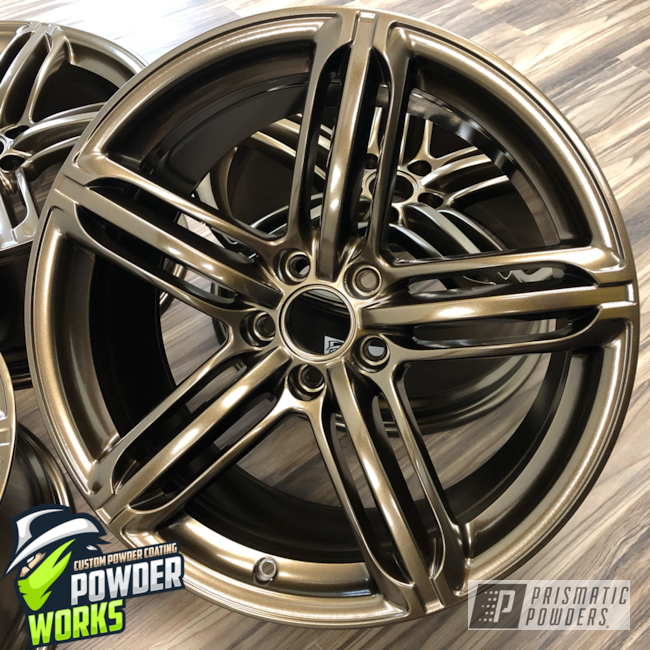 Powder Coating: Wheels,Automotive,Bronze Chrome PMB-4124