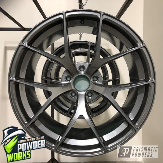 Powder Coating: Wheels,Automotive,ULTRA BLACK CHROME USS-5204