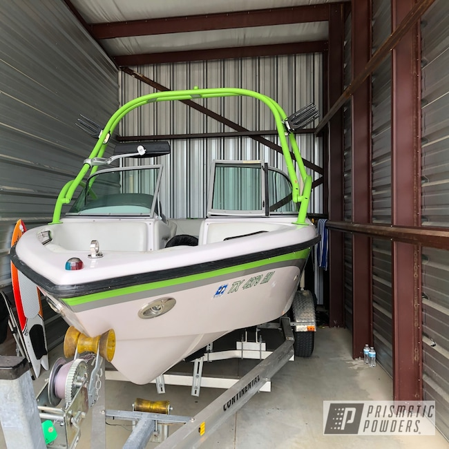 Powder Coating: Zombie Green PSB-7001,Boat Parts,Boat,Tower,210,2004 Super Air Nautique,Correct Craft,Super Air Nautique