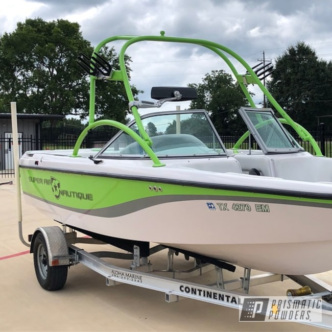 Powder-coated-green-boat-tower